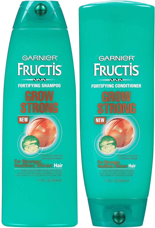 Garnier Fructis Grow Strong Shampoo and Conditioner Set, For Stronger, Healthier, Shinier Hair, 13 Fl Ounces Each