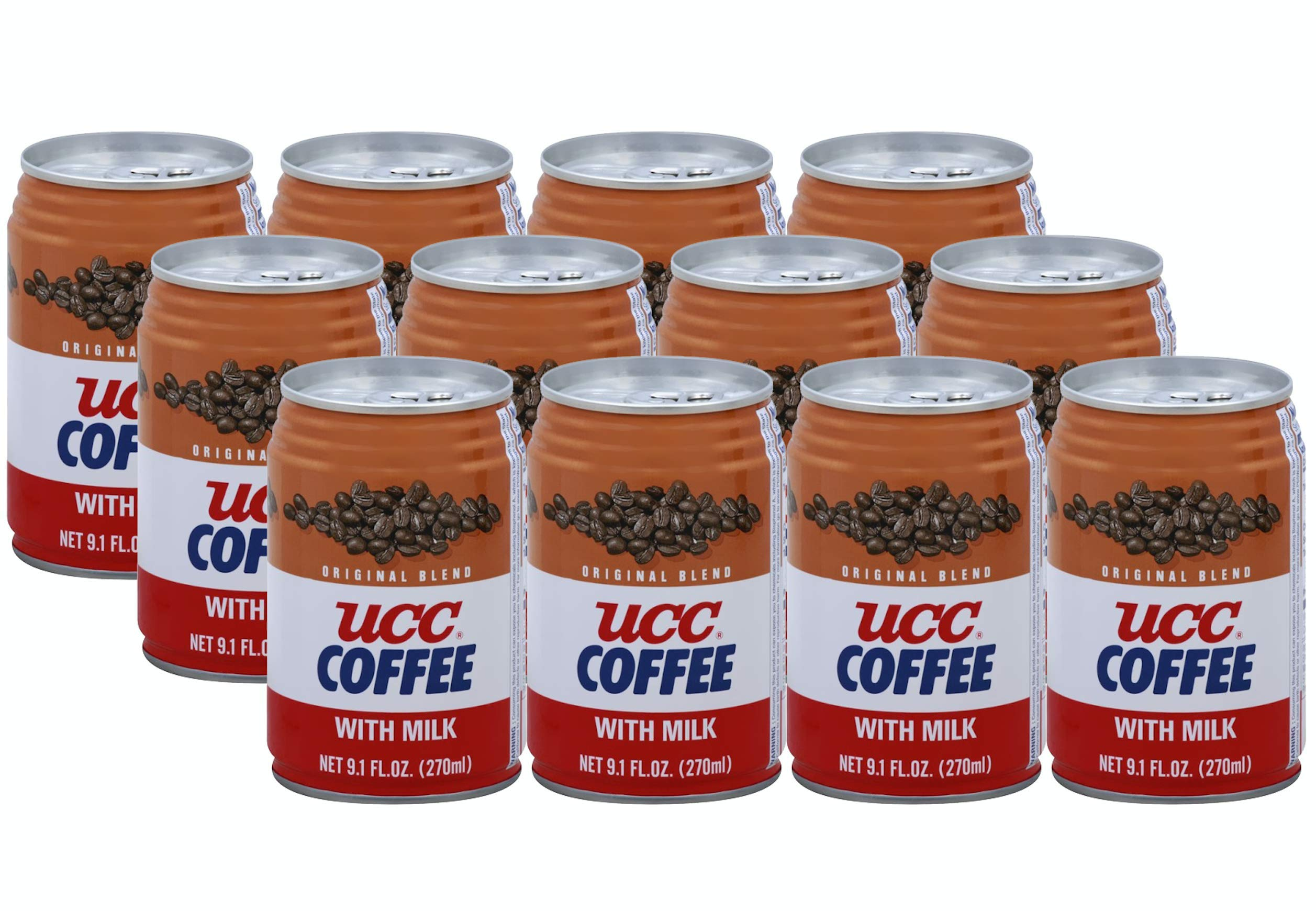 UCC Original Blend Coffee w/ Milk - 9.1 Fl Oz | Pack of 12 by C&U