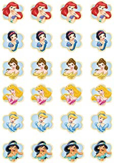 Disney Princess Edible Wafer FairyCup Cake Toppers 24 Sheet