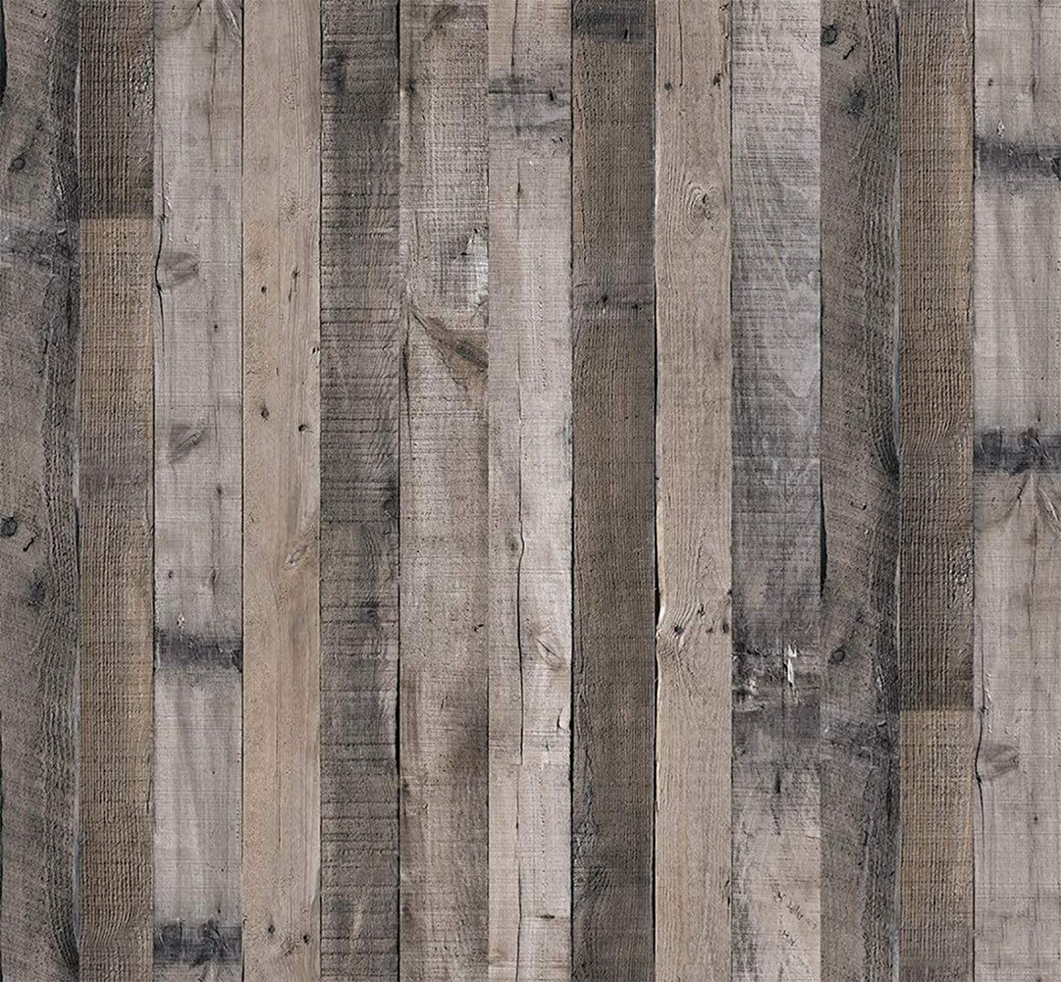 Reclaimed Wood Contact Paper Rustic Wallpaper Wood Peel and 78.7 In X 17.7 In