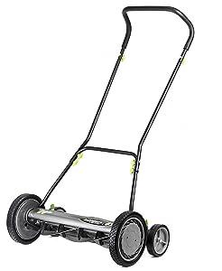 Earthwise 2001-20EW 20-Inch 5-Blade Push Reel Lawn Mower, Grey
