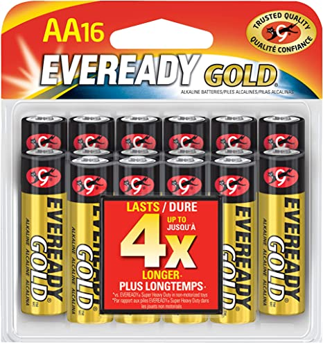 8 Count Eveready AA Batteries