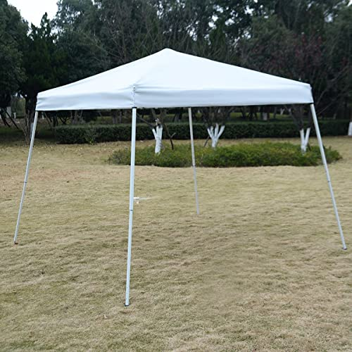 Tangkula 10 X10 EZ POP UP Tent Gazebo Wedding Party Canopy Shelter Carry Bag White