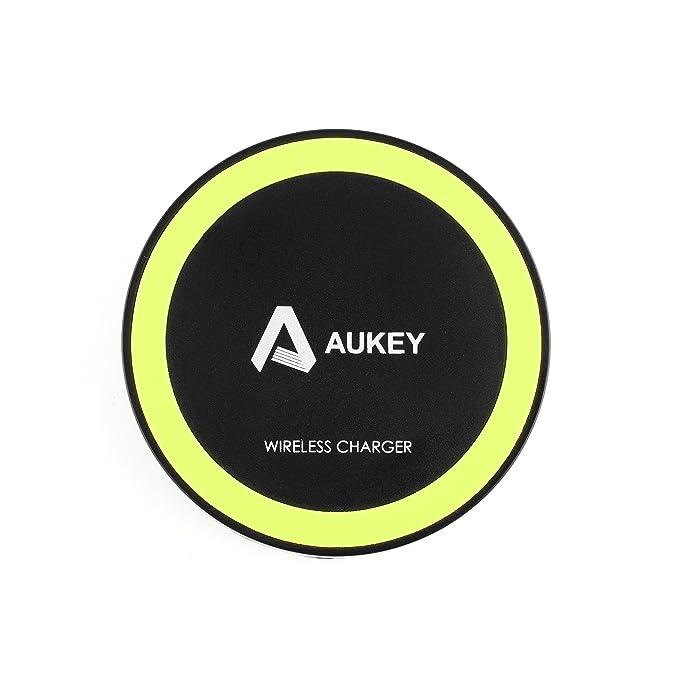 Aukey ® Qi Cargador Inalámbrico Tecnología Qi, Wireless Charging Diseñado Para Qi-Compatible Teléfonos y Tablet PC. (T20 Negro)