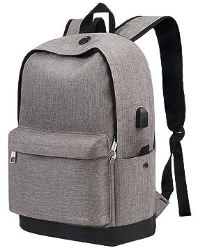 Mochila portátil delgada de 15.6 pulgadas, mochilas escolares de viaje, mochila grande de viaje