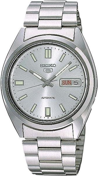Seiko Reloj Analógico Automático para Hombre con Correa de Acero Inoxidable – SNXS73