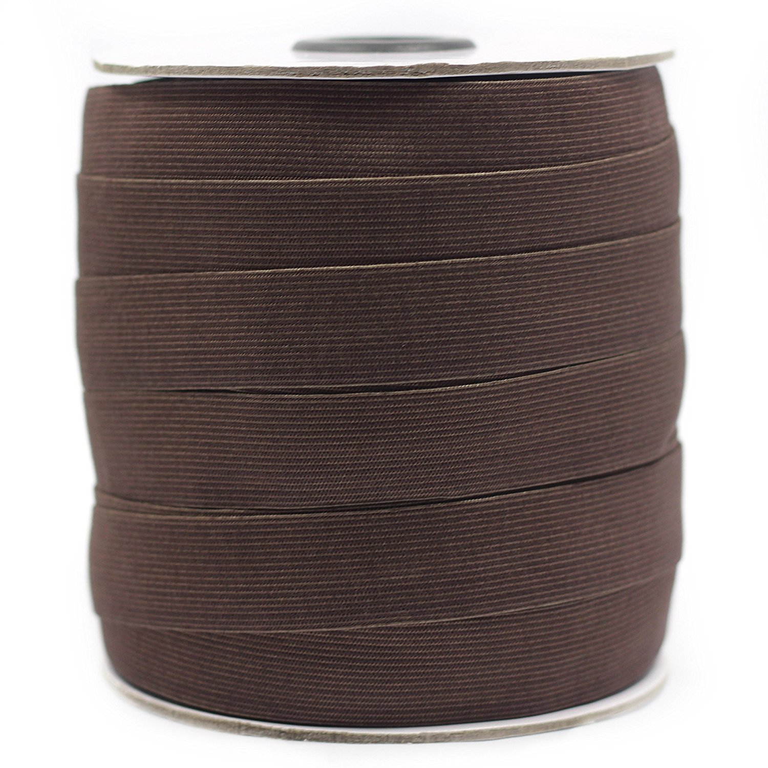 Knitted Woven Elastic Cord Brown,3//4 10 Yds