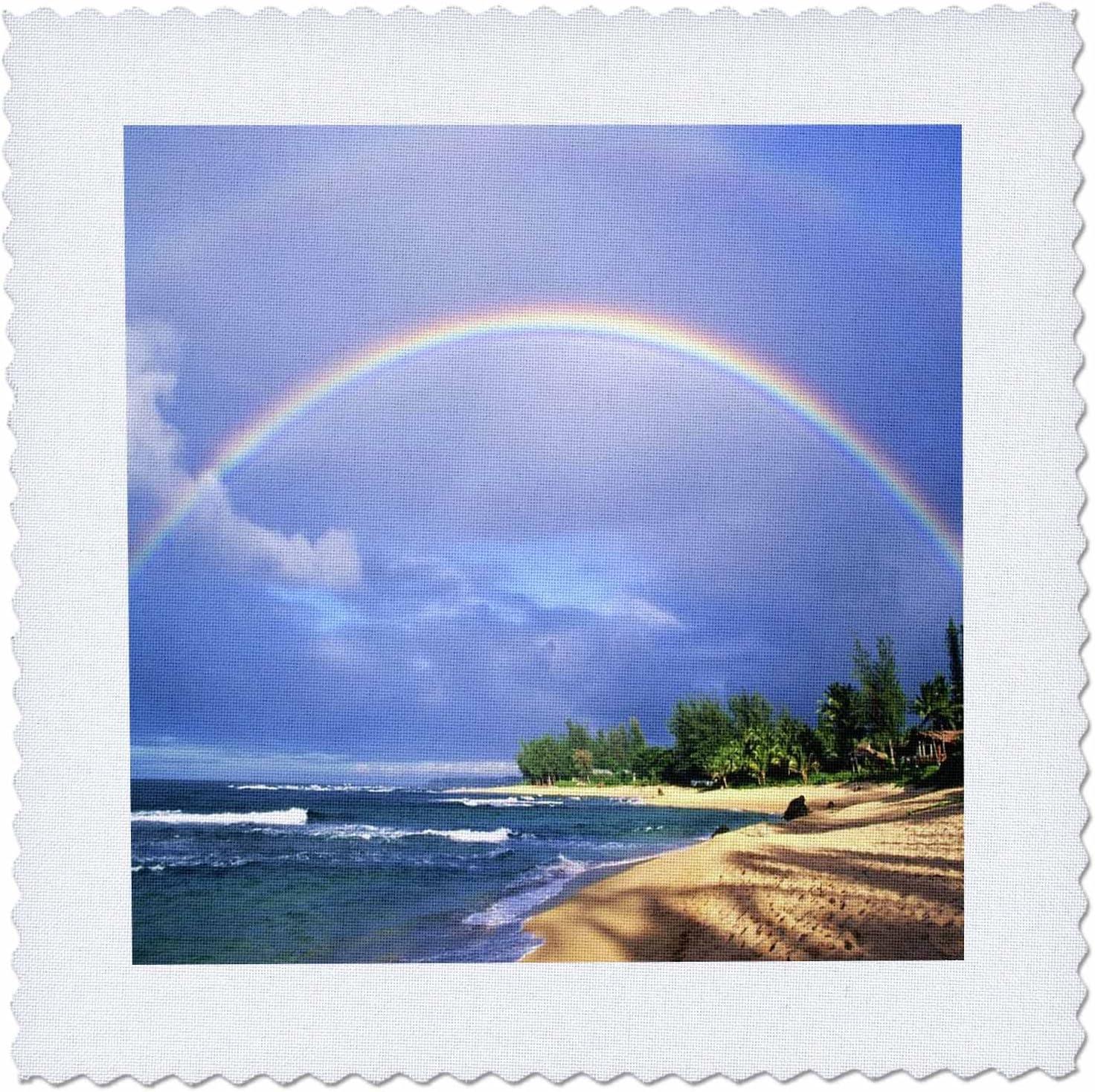 Amazon Com 3drose Qs 54136 4 Double Rainbow In Kauai Hawaii