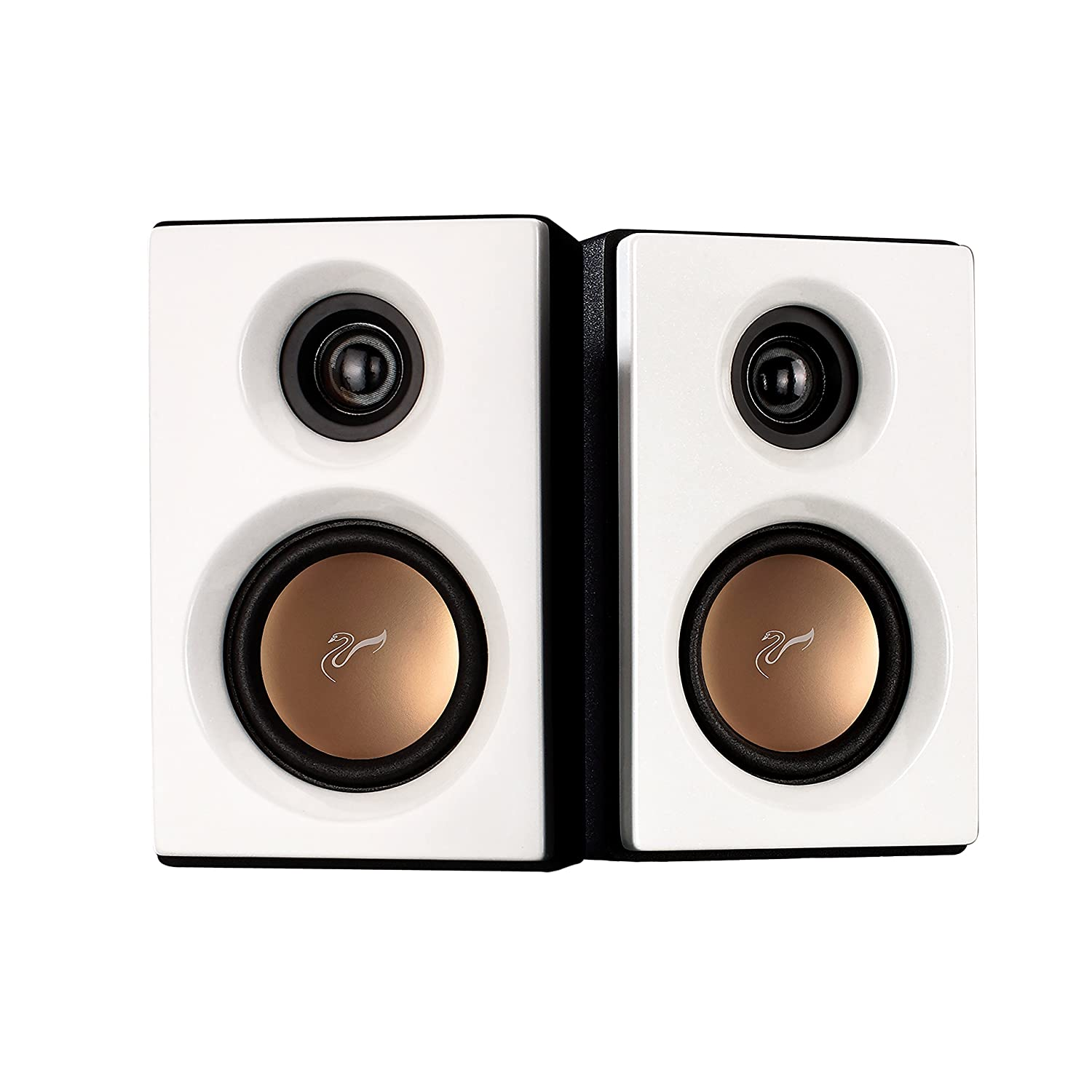 Swans Speakers M10 Powered 2 1 Computer Speakers Surround Sound Near Field Speakers Bookshelf Speakers Pearl White