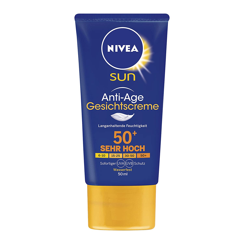 Nivea Sun Anti Age Sonnencreme LF50, 1er Pack (1 x 50 ml)