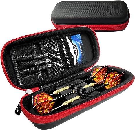 Th-some Bolsa de Dardos - Bolsa para Dardos, Espacio para 3 Dardos, Negro, Cremallera roja, Accesorios no incluidos: Amazon.es: Deportes y aire libre