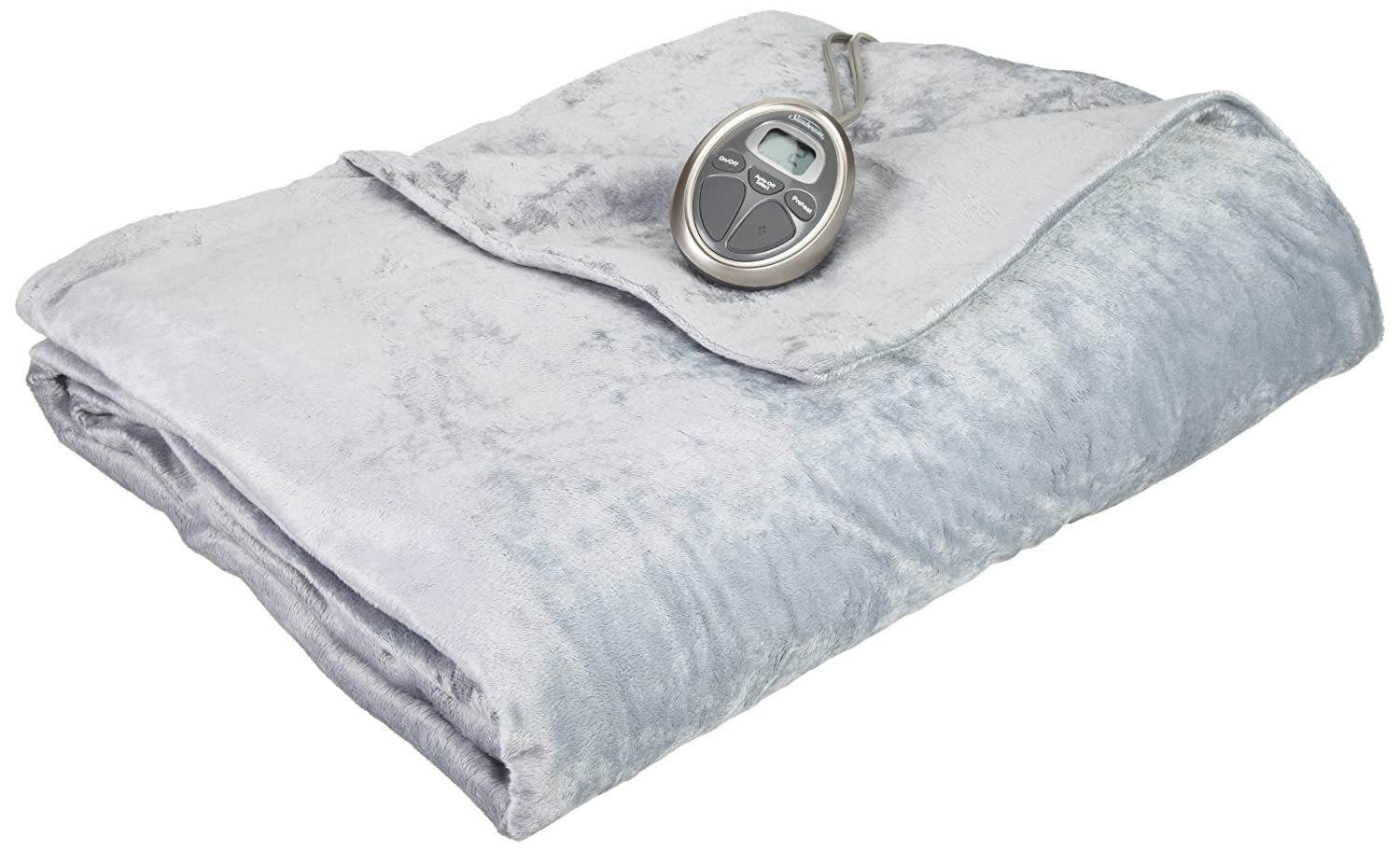 Amazon.com: Sunbeam RoyalMink Heated Blanket, Twin, Breeze ...