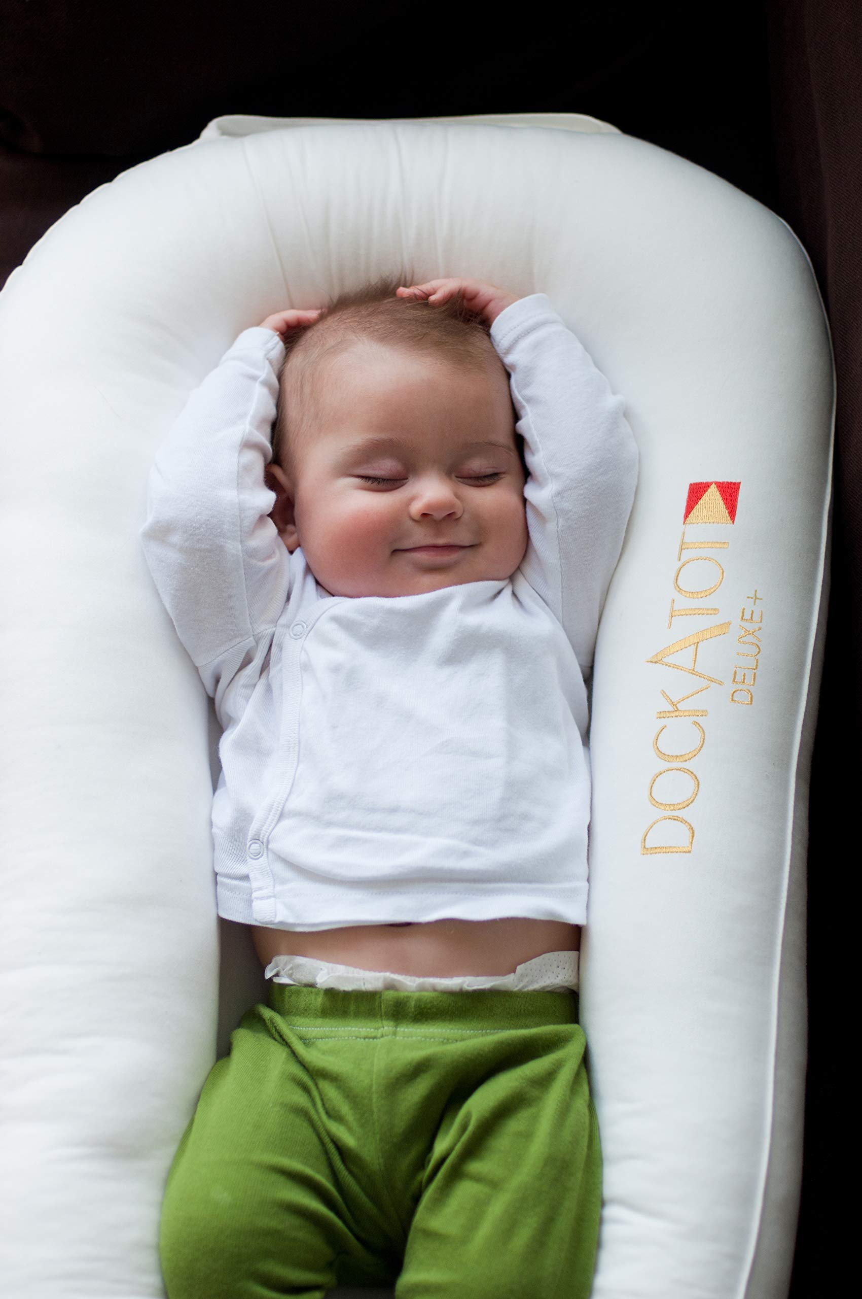 DockATot Deluxe+ Dock (Pristine White) - The All in One Baby Lounger - Perfect for Co Sleeping - Suitable from 0-8 Months (Pristine White) by DockATot (Image #7)