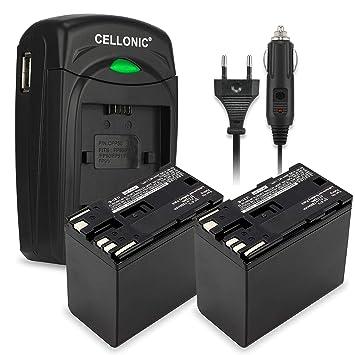 CELLONIC 2X Batería Premium Compatible con Canon EOS C100 C300 XF100 XF200 XF205 XF300 XF305 CP910 XH-A1 XL-H1 XM2, BP-975 BP-955 BP-925 BP-970 ...
