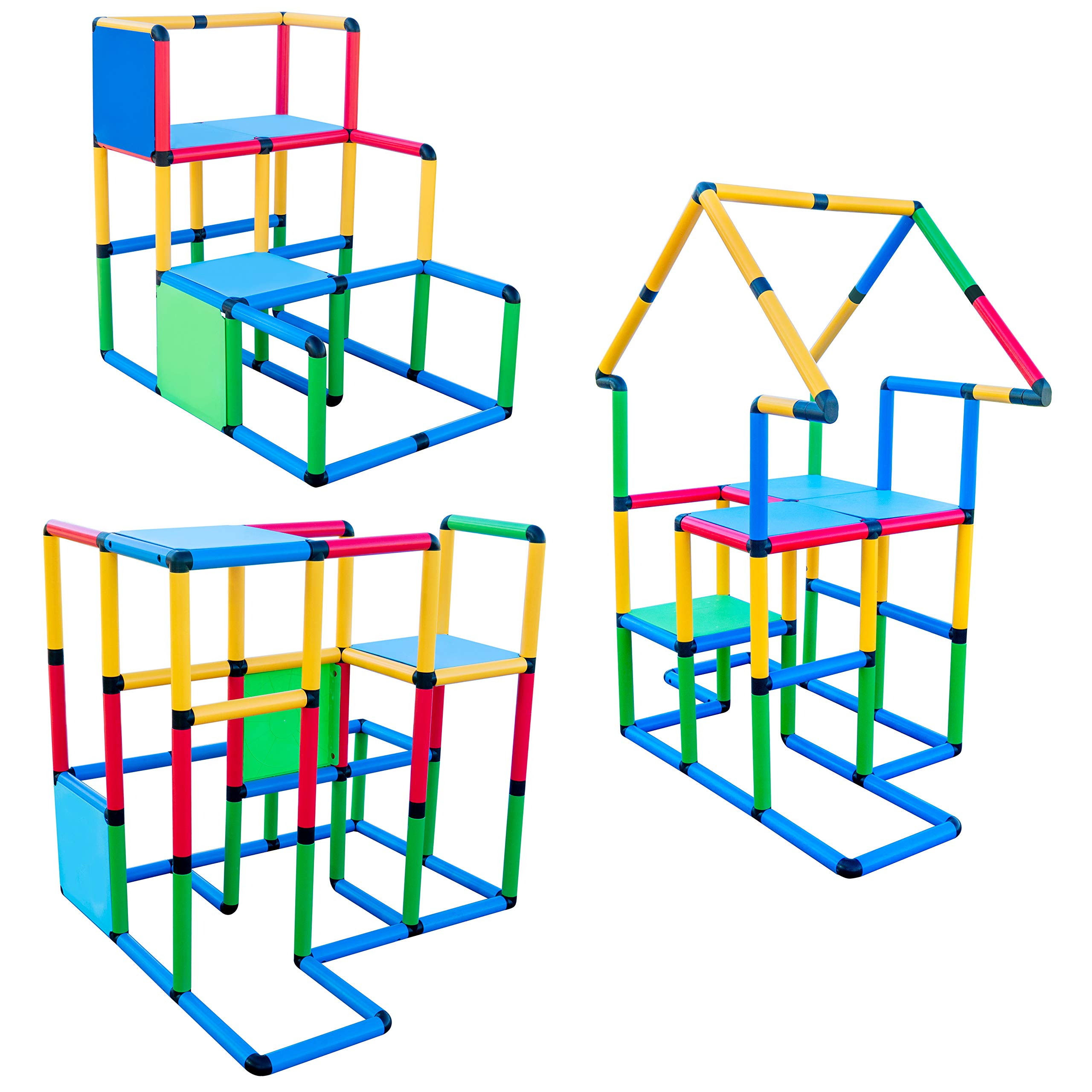 Funphix Deluxe 296 Piece Construction Toy Set - Building Play-Structures for Indoors & Outdoors - Fun & Educational Learning Toys for Ages 2 to 12 by Funphix (Image #7)