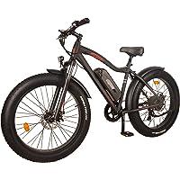 DJ Fat Bike 750W 48V 13Ah Power Electric Bicycle, UL 2849, Matte Black, LED Bike Light, Suspension Fork and Shimano Gear,