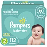 Diapers Size 2 - Pampers Baby Dry Disposable Baby Diapers, 112 Count, Super Pack (Packaging May Vary)