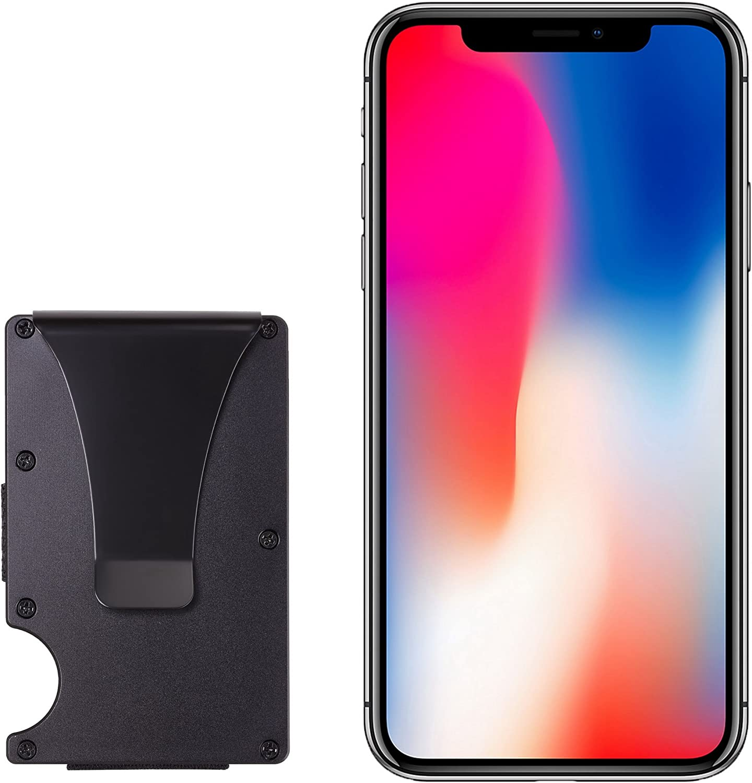 aluminum black BSWolf Aluminum Slim Minimalist Front Pocket Wallet Credit Card Case Holder RFID Blocking