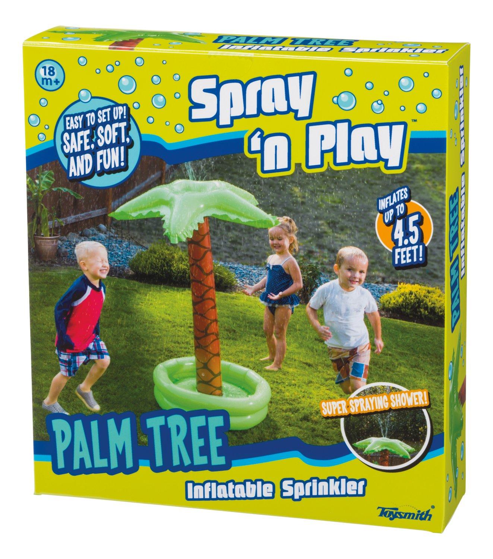 Toysmith Toy Smith Palm Tree Sprinkler, Green