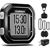 Garmin Edge 25 GPS Cycling Computer 010-03709-20 with Garmin Speed and Cadence Sensors with extra Wearable4U Wall Charging Adapter Bundle