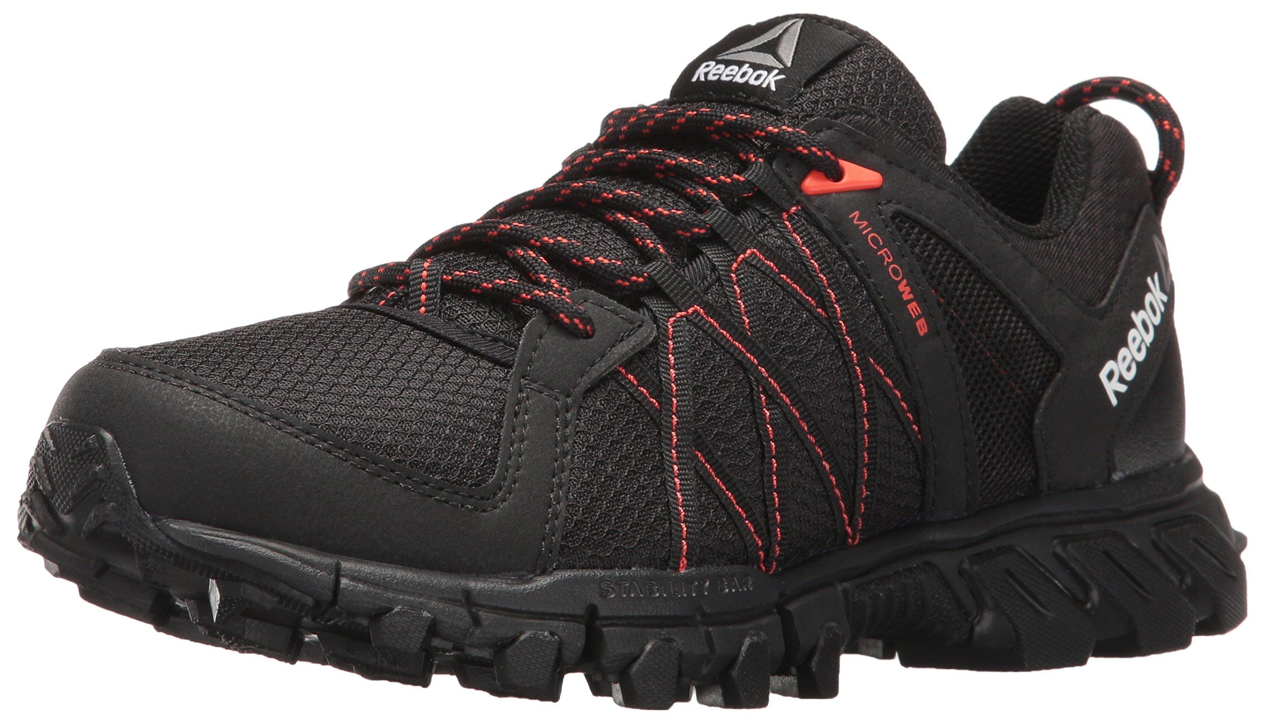 Reebok Women's Trailgrip RS 5.0 Trail Runner, Black/Carotene/Coal, 7.5 M US