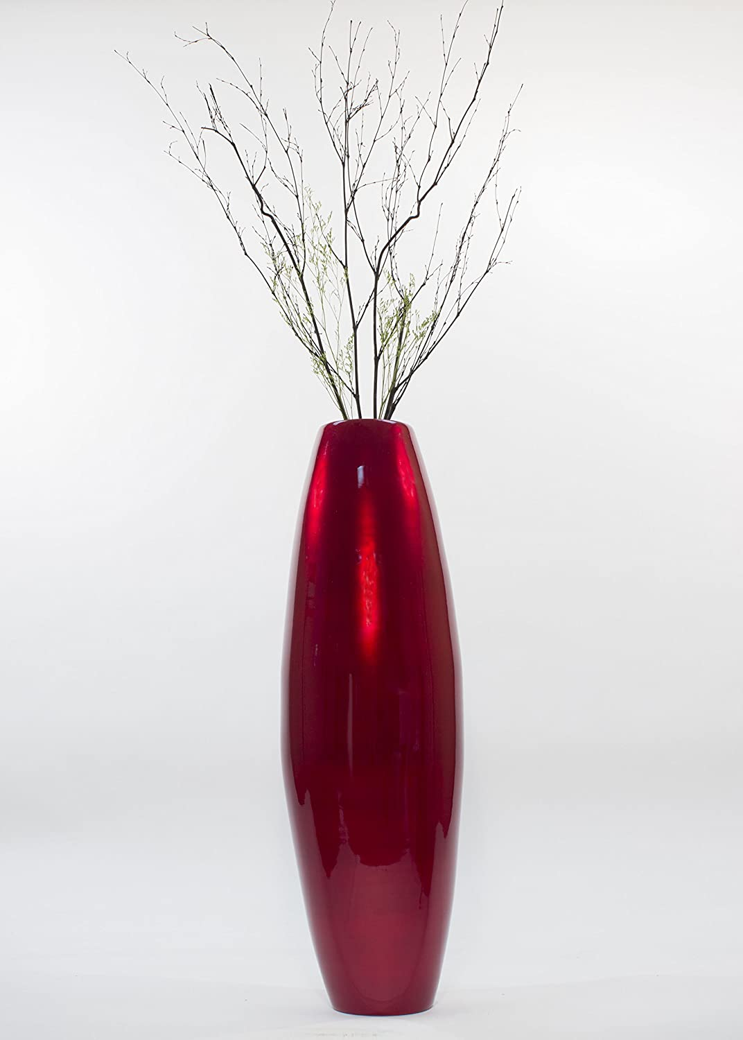 Amazon greenfloralcrafts 36 in bamboo cylinder floor vase amazon greenfloralcrafts 36 in bamboo cylinder floor vase birch branches mahogany red home kitchen reviewsmspy
