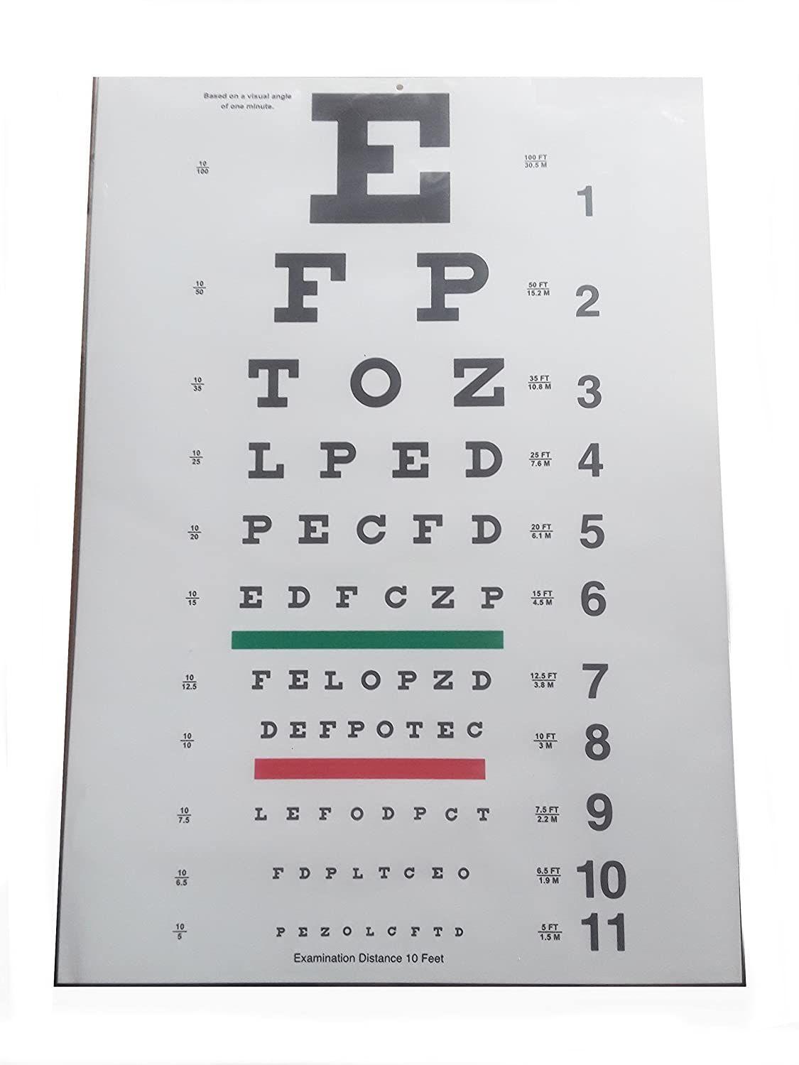 Amazon Eye Chart Snellen 10 Ft Health Personal Care