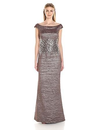 c0b7aac5a60 Emma Street Women s Off Shoulder Metallic Gown