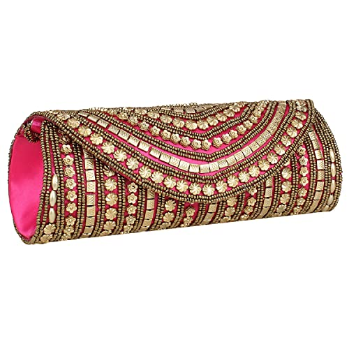 cce1fdbb34db Dense Beaded Sizzling Rajasthani Style Hand-Cum-Wedding Clutch for ...