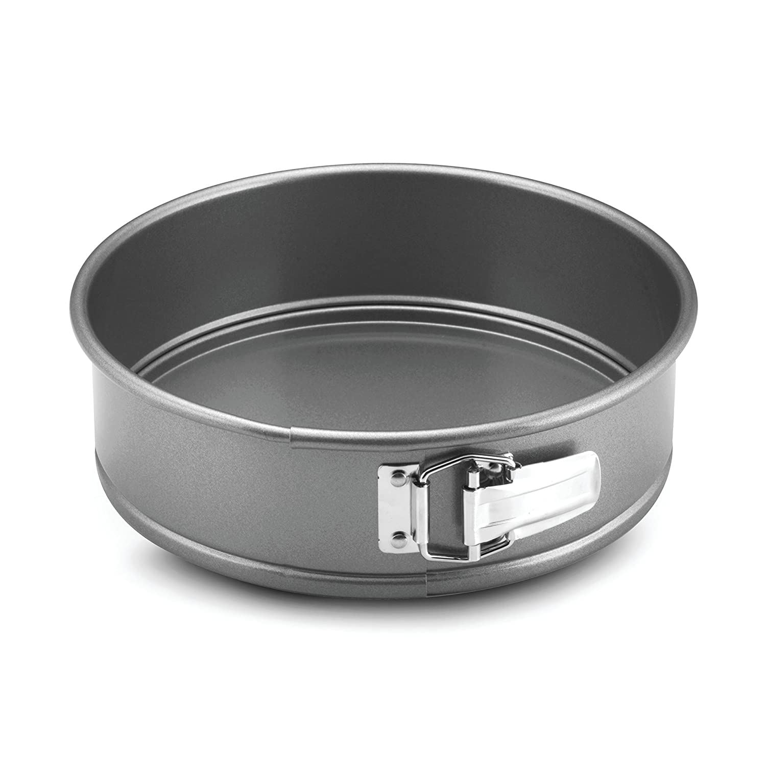 Anolon Advanced Nonstick Bakeware 9-Inch Square Springform Dessert Pan, Gray with Silicone Grip Meyer 57991