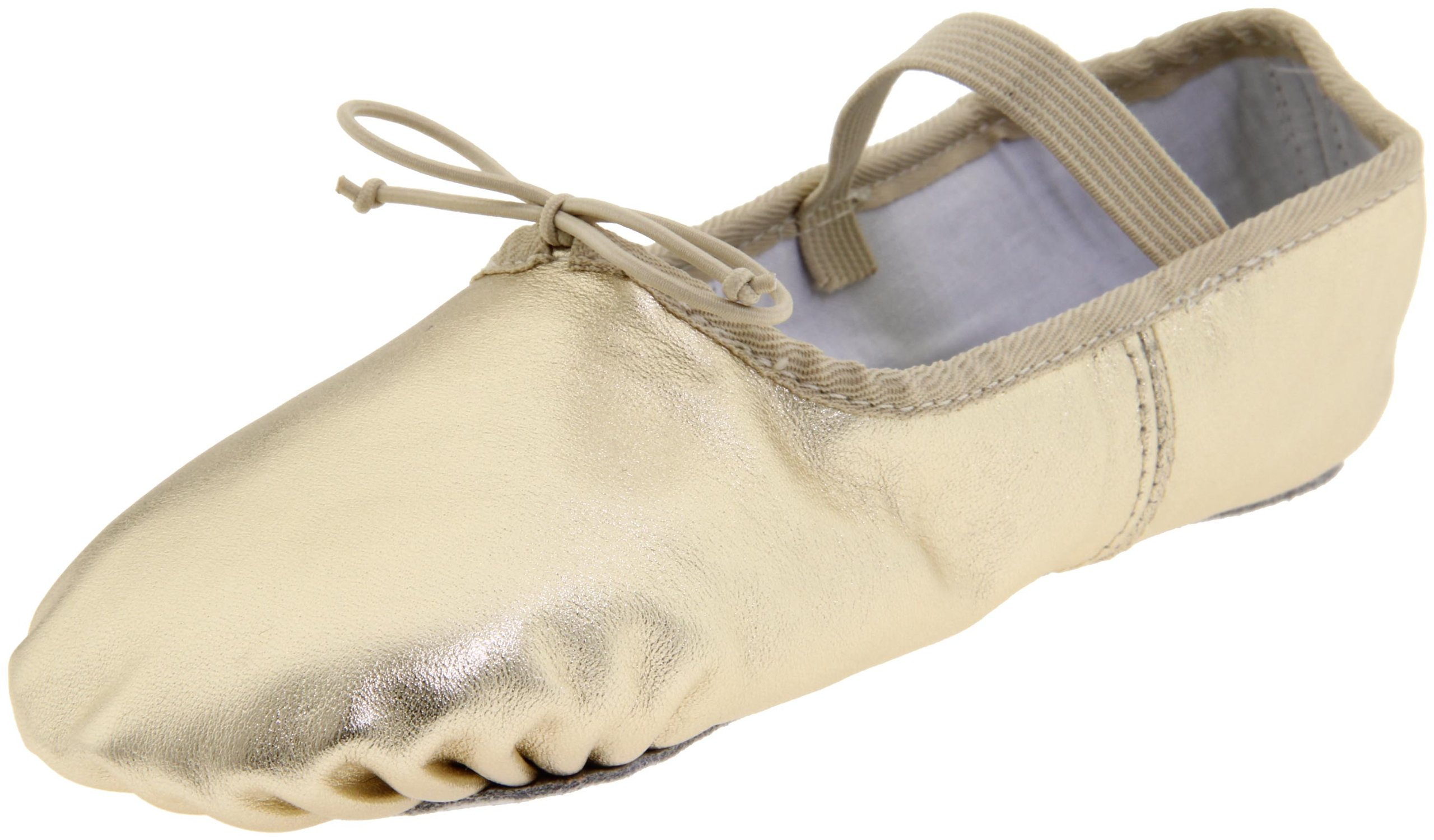 Dance Class Women's B902 Full Sole Metallic Ballet Slipper,Gold,6.5 M US