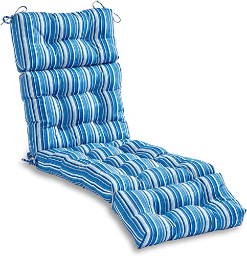 Deal of the week: South Pine Porch AM4804-SAPPHIRE Sapphire Stripe 72-inch Outdoor Chaise Lounge Cushion