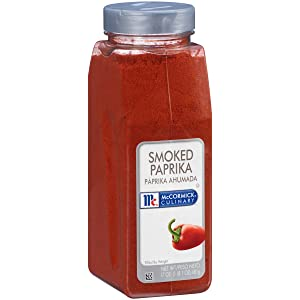 McCormick Culinary Smoked Paprika, 17 oz - One 17 Ounce Container of Sweet and Smoky Paprika Perfect for Spanish Cuisine, Chicken, Fish, Pork, Potatoes, and More