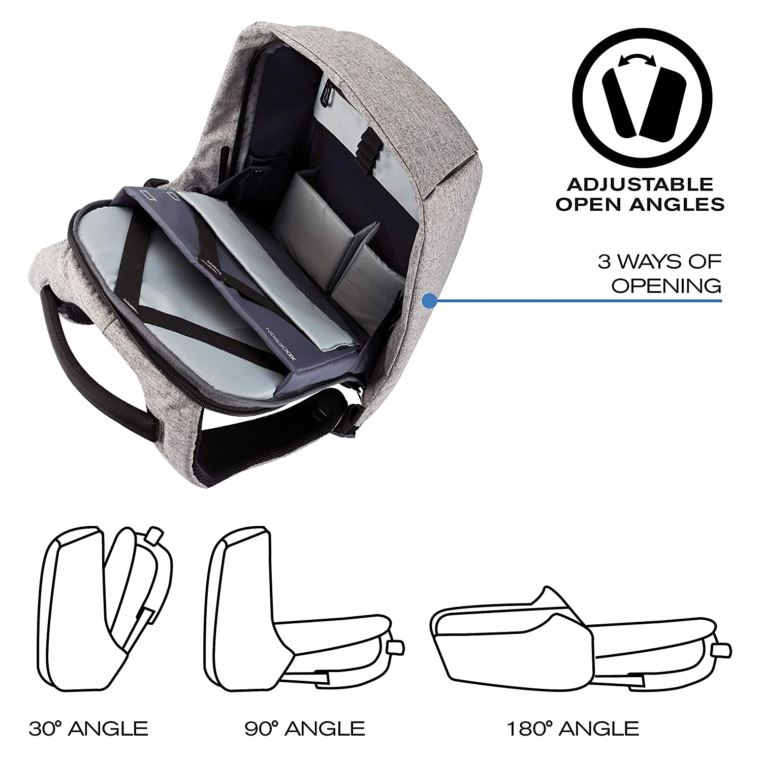 Xd Design Bobby Original Anti Theft Laptop Backpack With Travel Waist Bag Tas Maling Usb Port Unisex Computers Accessories