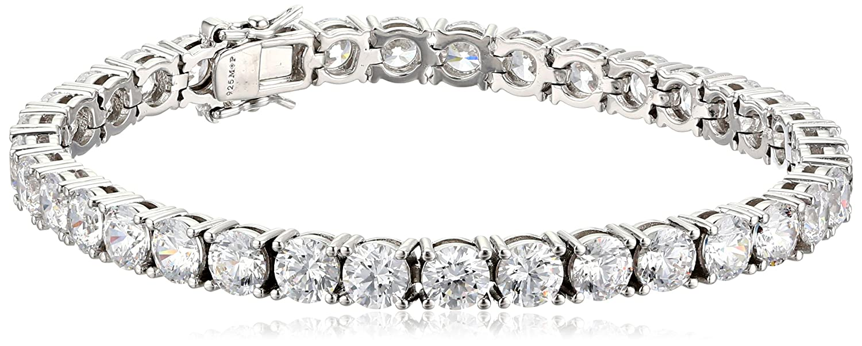 """Amazon.com: Myia Passiello """"Timeless"""" Swarovski Cubic-Zirconia 5mm Tennis  Bracelet, 7.25"""": Jewelry"""