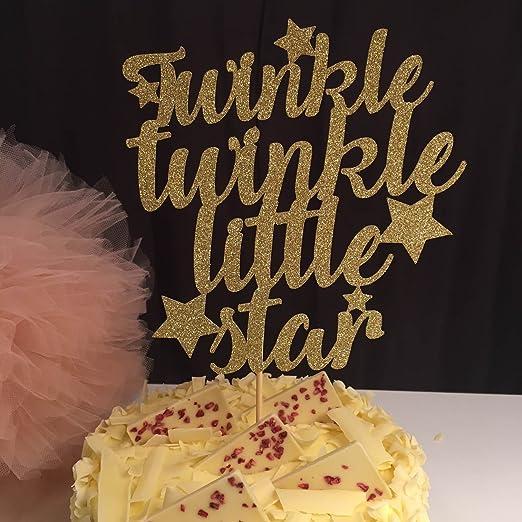 Peachy Twinkle Twinkle Little Star Cake Topper Baby Shower Cake Idea Funny Birthday Cards Online Alyptdamsfinfo