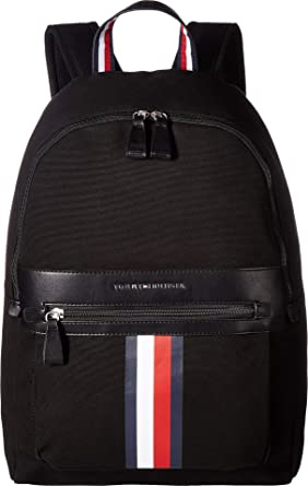 Amazon Com Tommy Hilfiger Men S Icon Backpack Canvas Black One