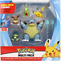 PoKéMoN Battle Figura Multi 5 Pack - Blastoise, Munchlax, Larvitar, Eevee & Pikachu - Nueva Ola 2020 - Detalles…