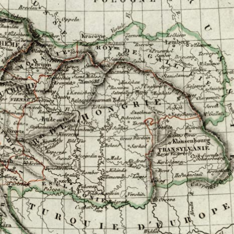 Amazon Com Austrian Empire Hungary Bohemia Europe 1834 Tardieu