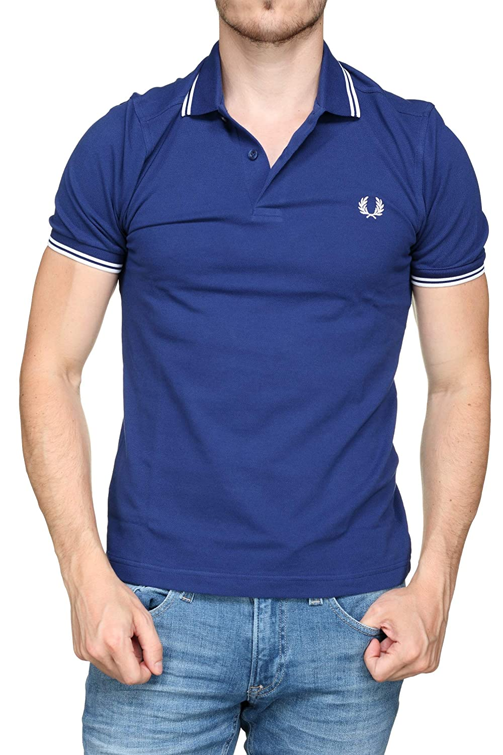Fred Perry Hombres Polo con Punta Doble m3600 i71 Azul: Amazon.es ...