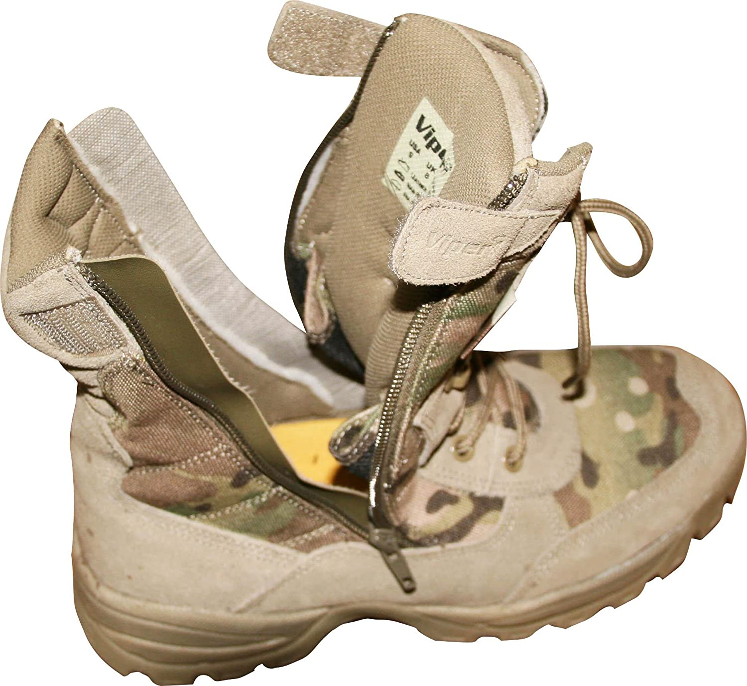 Genuine Multicam Cordura Side Zip and Laces Special Ops Tactical Combat Boot  (UK 8): Amazon.co.uk: Shoes & Bags