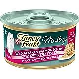 Purina Fancy Feast High Protein Wet Cat Food, Medleys Wild Alaskan Salmon Recipe with Garden Veggies in Sauce - (24) 3 oz. Ca