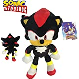 "Sonic - Peluche Shadow The Hedgehog 11'80""/30cm Color Negro Calidad Super Soft"