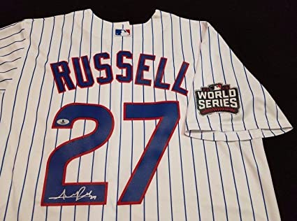 23e47536050 Autographed Addison Russell Jersey - white 2016 World Series BAS Auth -  Beckett Authentication - Autographed