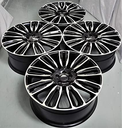 Range Rover Wheels >> Amazon Com 22 Inch Black Wheels Rims Full Set Of 4 Fit For Land