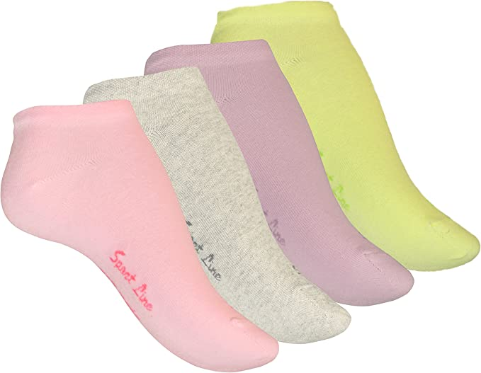 blanc femme 4089 VCA Lot de 8 paires de socquettes SPORT LINE coton peign/é