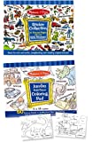 Melissa & Doug Sticker and Jumbo Coloring Pads Set: Animals, Sports, Vehicles, and More - 500+ Stickers, 50 Coloring Pages
