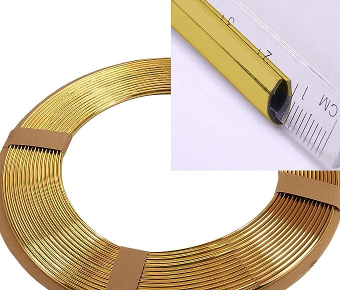 Phil Trade 3 Meter Kantenschutz Zierleisten Gold U Profil Alle Autos Kfz Roller Auto