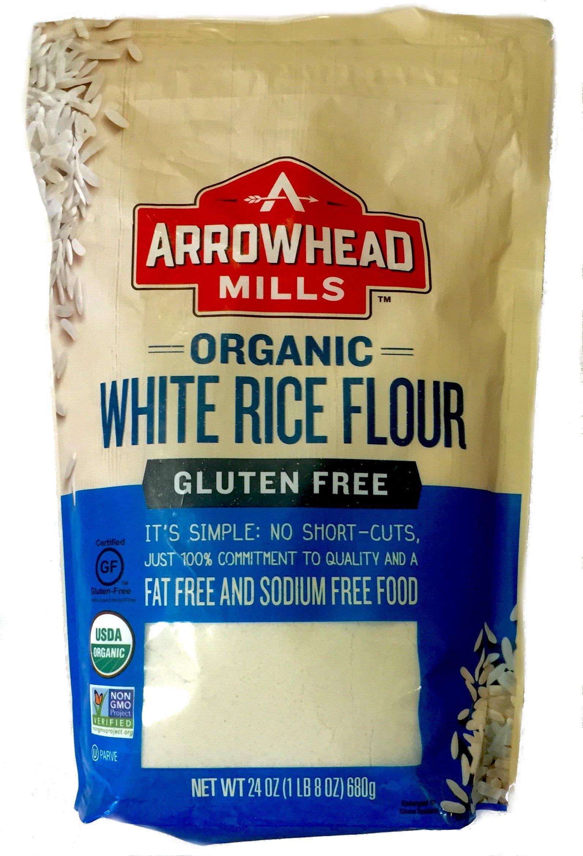 Arrowhead Mills Organic White Rice Flour Gluten Free, 24 Oz, (Pack of 12)