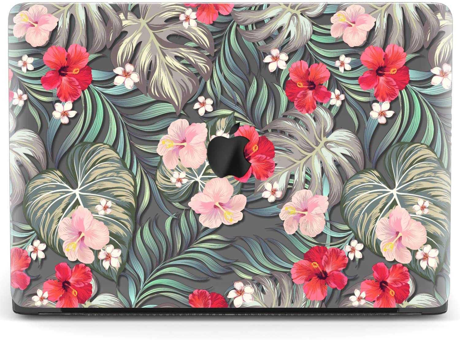Mertak Hard Case for Apple MacBook Pro 16 Air 13 inch Mac 15 Retina 12 11 2020 2019 2018 2017 Plastic Flowers Leaves Print Floral Tropical Design Touch Bar Jungle Monstera Clear Protective Cover